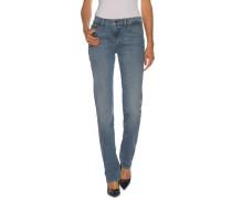 Jeans Mid Rise Straight blau