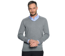 Pullover, grau meliert