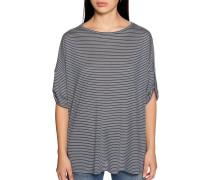 Kurzarm T-Shirt blaugrau/weiß