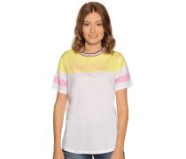Kurzarm T-Shirt gelb/weiß