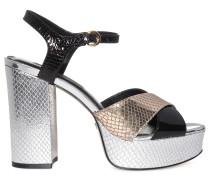 Sandaletten silber/schwarz