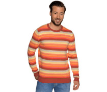 Pullover orange/rot/gelb gestreift