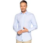 Business Hemd Slim Fit hellblau/weiß