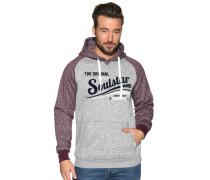 Sweatshirt grau/bordeaux