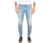 Jeans Anbass hellblau