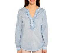Langarm Blusenshirt blau