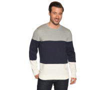 Pullover grau meliert/offwhite/navy