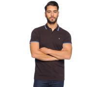 Kurzarm Poloshirt braun
