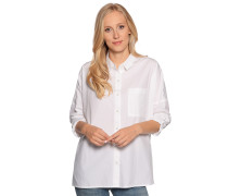 Langarm Bluse weiss