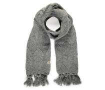 Schal mit Kaschmiranteil grau meliert