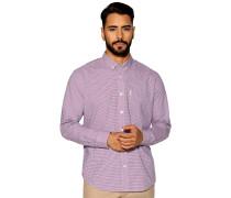 Langarm Hemd Regular Fit rot/blau/weiß