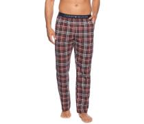 Pyjamahose bordeaux/blau