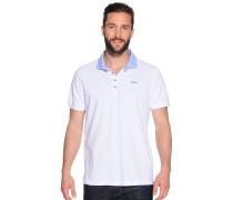 Kurzarm Poloshirt weiß