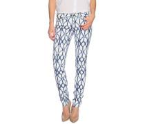 Jeans Milan blau/weiß