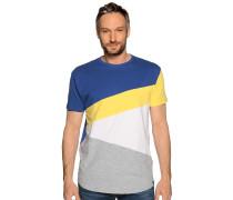 Kurzarm T-Shirt blau/grau