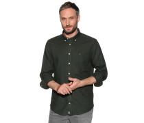 Langarm Flanellhemd Regular Fit khaki