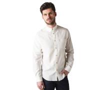 Langarm Hemd Regular Fit mit Leinen offwhite