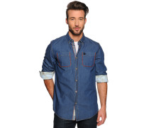 Langarm Hemd Regular Fit blau