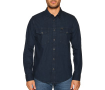 Langarm Jeanshemd Regular Fit blau