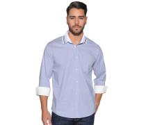 Langarm Hemd Custom Fit grau