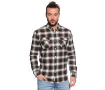 Langarm Flanellhemd Regular Fit grün/braun