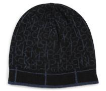 Mütze mit Kaschmiranteil schwarz/blau