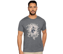 Kurzarm T-Shirt navy meliert