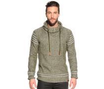 Pullover khaki/weiß