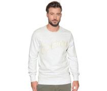 Sweatshirt hellgrau meliert