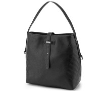 Line Bucket - Handtasche - Schwarz