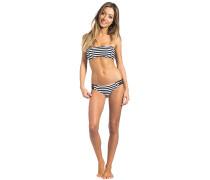Panama Stripe Bandeau - Bikini Set - Schwarz