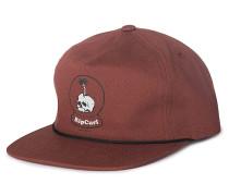Lazy Skull - Snapback Cap - Rot