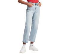 Ribcage Straight Ankle - Jeans - Blau