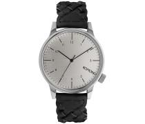 Winston Woven - Uhr - Silber