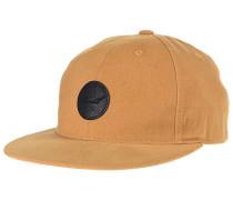 Flat 6-Panel Snapback Cap - Beige