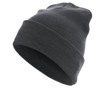 Beanie Basic Flap Long Version Mütze - Grau