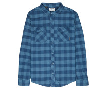 All Day Flannel L/S - Hemd - Blau