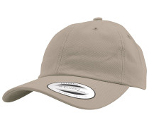 Low Profile Cotton Twill Snapback Cap - Beige