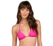Simply Solid Triangle - Bikini Oberteil - Pink