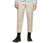 Bronson Pleated Relaxedapered - Stoffhose - Beige