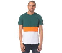 Colorblock Stripe - T-Shirt - Grün