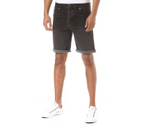 Smokey Grey Denim - Shorts - Schwarz