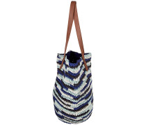 Straw Beach Bag - Tasche - Blau