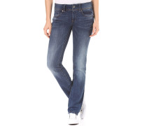Midge Saddle Mid Straight - Jeans - Blau