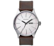 Sentry Lthr - Uhr - Silber