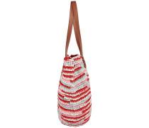 Straw Beach Bag - Tasche - Rot