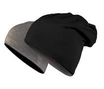 Jersey reversible Mütze - Schwarz