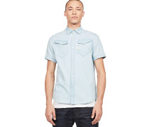 3301 Straight - Hemd - Blau