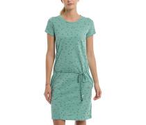 Printed Jersey - Kleid - Grün