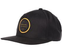 Valley Badge Snapback Cap - Schwarz